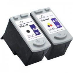 Canon PG40 BK+ CL41 Colour Ink Cartridge Compatible