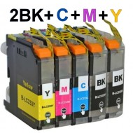 Brother LC233 ink Cartridge 2BK+C+M+Y