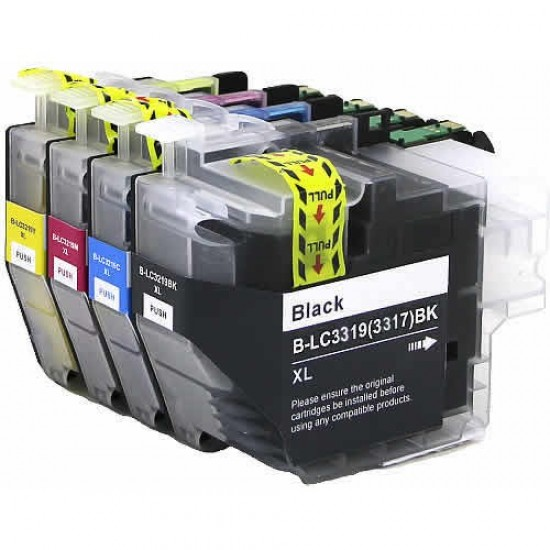 Premium A+ compatible Brother LC3319XL ink cartridge BK+C+M+Y Tonerink Brand