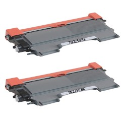 Brother TN2250 Toner Cartridge x2