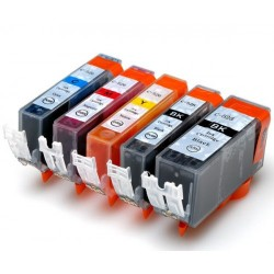 CANON PGI520 CLI521 XL Ink Cartridges Comp. x5