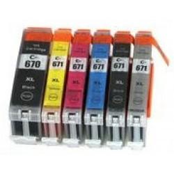 Canon MG7760 PGI670 CLI671XL Ink Cartridge Full Set (6 cartridges)