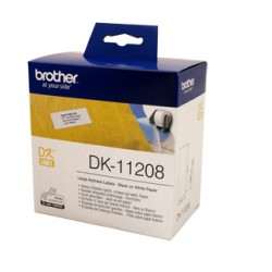 Brother DK11208 White Label - 38mm x 90mm - 400 per roll