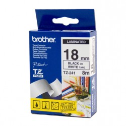 Brother 18mm Black Text On White Tape - 8 metres Tonerink Brand Tonerink Brand