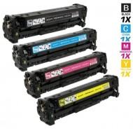 Compatible HP 410X CF410X+CF411X+CF412X+CF413X High Yield Full Set Toner Cartridge