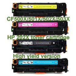 HP 202X CF500X/CF501X/CF502X/CF503X Toner Cartridge Tonerink Brand