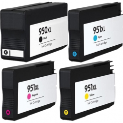 HP 950XL 951XL Ink Cartridge BK+C+M+Y Latest version chip